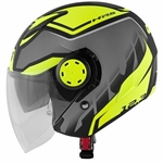 CASCO GIVI 12.3 STRATOS MAT TITAN/BLACK/YELLOW TG.VARIE